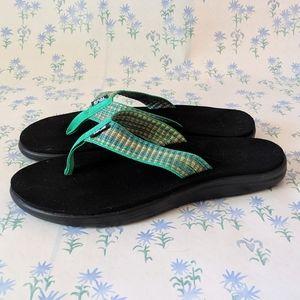 Teva Voya Flip Sandals Green Orange Flip Flop 9